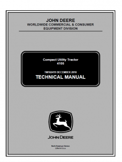 repair manuals John Deere 4105 Compact Utility Tractor Technical Manual TM102419 PDF
