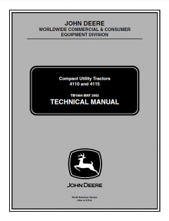 repair manuals John Deere 4110 & 4115 Compact Utility Tractors Technical Manual TM-1984 PDF
