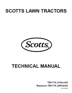 repair manuals John Deere S1642 S1742 S2046 S2546 Scotts Lawn Tractor TM1776 Technical Manual PDF