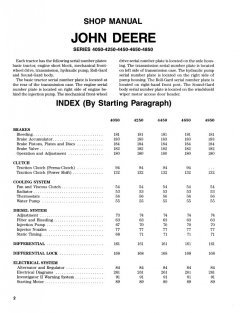 repair manuals John Deere Series 4050 4250 4450 4650 4850 Tractor Shop Manual PDF