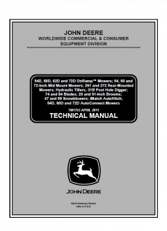 repair manuals John Deere CCE Technical Manual TM1763 PDF