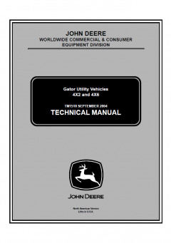 repair manuals John Deere Gator Utility Vehicles 4x2 and 4x6 Technical Manual TM1518 PDF