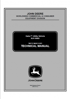 repair manuals John Deere Gator Utility Vehicle XUV 850D Technical Manual TM1737 PDF