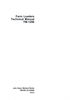 repair manuals John Deere Farm Loaders Technical Manual TM-1298 PDF