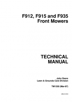 repair manuals John Deere F912, F915, F935 Front Mowers Technical Manual TM1350 PDF