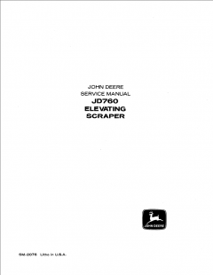 repair manuals John Deere JD760 Elevating Scraper Service Manual SM-2076 PDF
