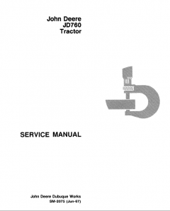 repair manuals John Deere JD760 Tractor PDF Service Manual SM-2075 PDF