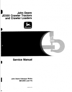 repair manuals John Deere JD350 Crawler Tractors & Loaders Service Manual SM-2063 PDF
