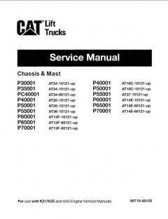 repair manuals Caterpillar Lift Trucks Chassis & Mast Service Manual PDF