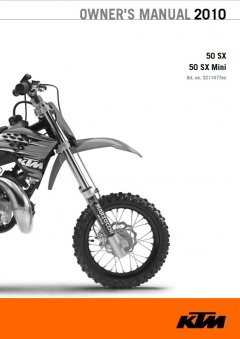 repair manuals KTM 50SX & 50SX Mini Owner's Manual 2010