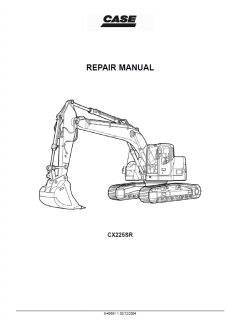 repair manuals Case CX225SR Crawler Excavator Repair Manual PDF