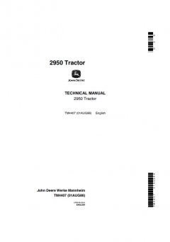 repair manuals John Deere 2950 Tractor Technical Manual TM4407 PDF