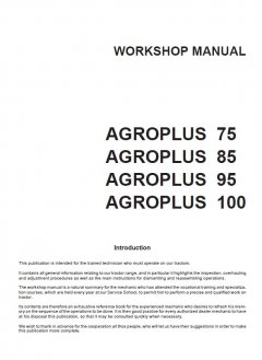 repair manuals Deutz Agroplus 75-85-95-100 Workshop Manual PDF