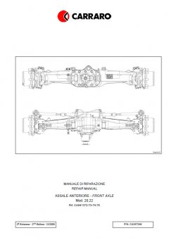 repair manuals Carraro Front Axle for Agrotron 120-130 Repair Manual PDF