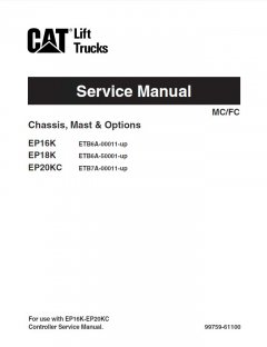 repair manuals Caterpillar EP16K EP18K EP20KC Forklifts Service Manual PDF
