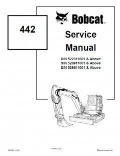 repair manuals Bobcat 442 Compact Excavator Service Manual PDF