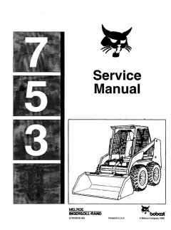 repair manuals Bobcat 753 Loader Service Manual PDF