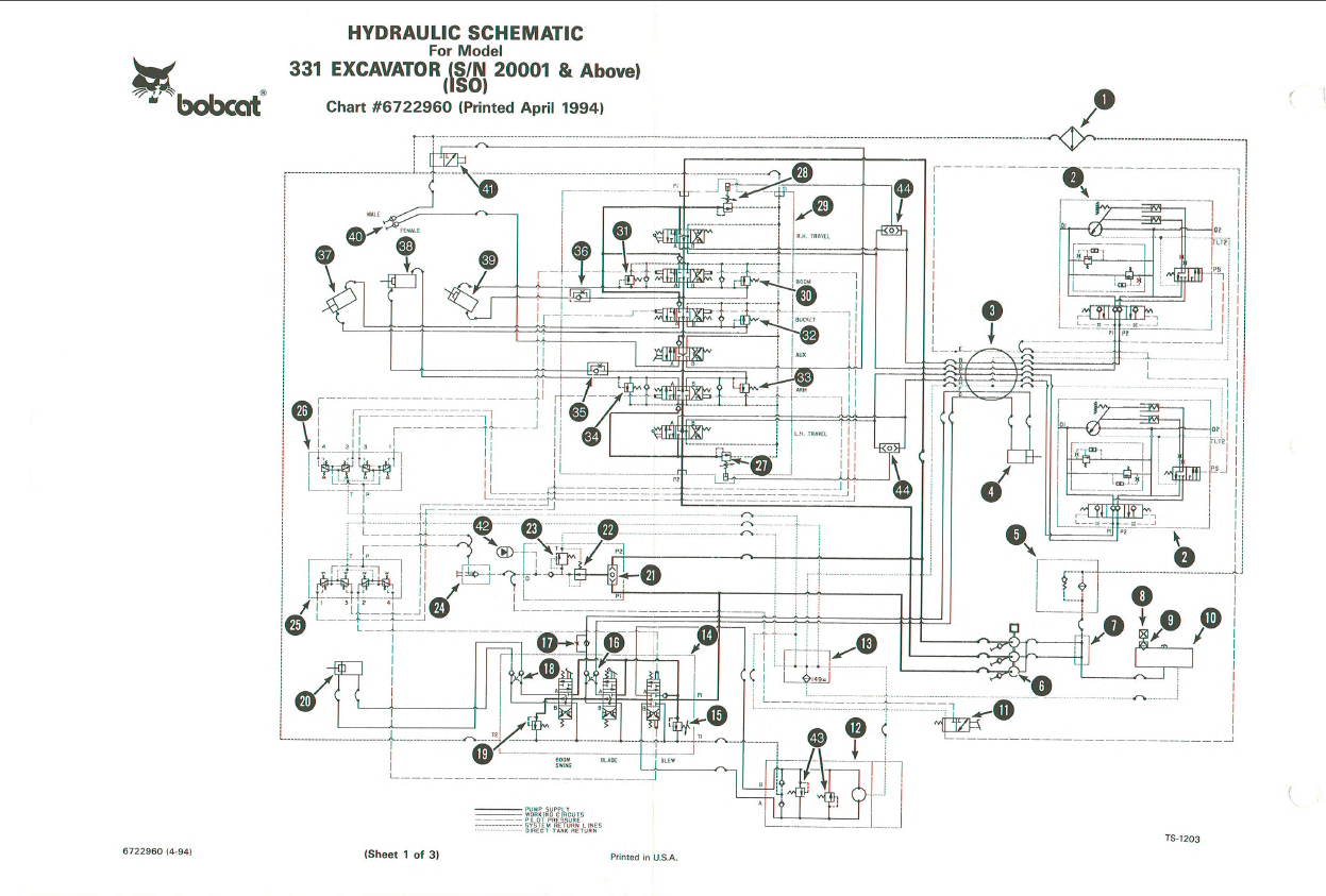 Bobcat 331 Hydraulic Diagram