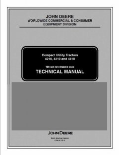 repair manuals John Deere 4210 4310 4410 Compact Utility Tractor TM1985 Technical Manual PDF