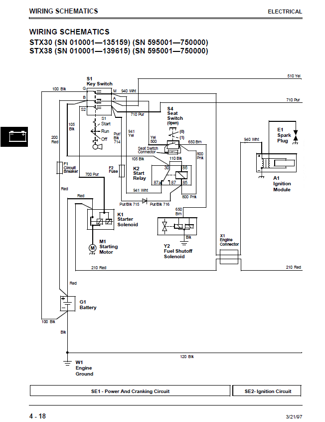 wiring diagram for john deere x540 mower john deere x300
