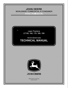 repair manuals John Deere LT150 LT160 LT170 LT180 Lawn Tractors Technical Manual TM1975 PDF