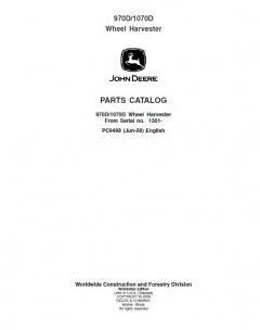 spare parts catalogs John Deere 970D 1070D Wheel Harvester Parts Manual PDF PC9498