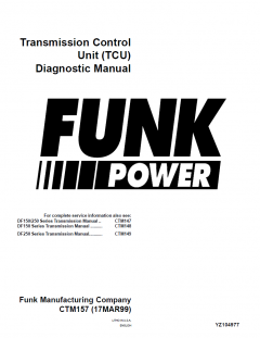 repair manuals John Deere Funk Transmission Control Unit TCU Diagnostic Manual CTM157
