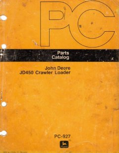 spare parts catalogs John Deere JD450 Crawler Loader Parts Catalog PDF PC-927