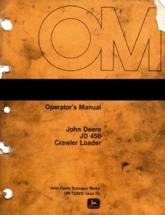 repair manuals John Deere JD450 Crawler Loader PDF OM-T23810 Service Manual