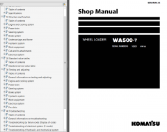 repair manuals Komatsu WA500-7 Wheel Loader + USA Shop Manual PDF
