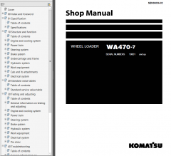 repair manuals Komatsu WA470-7 Wheel Loader + USA Shop Manual PDF