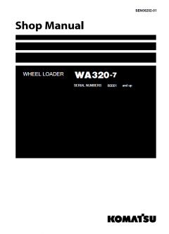 repair manuals Komatsu WA320-7 Wheel Loader + USA Shop Manual PDF