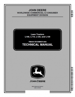 repair manuals John Deere L100 L110 L120 L130 Lawn Tractors Technical Manual PDF
