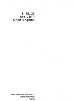 repair manuals John Deere 16-18-20-24HP Onan Engine Workshop Manual PDF CTM2