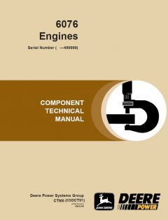 repair manuals John Deere 6076 Diesel Engine Repair Manual CTM6 PDF