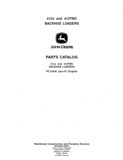 spare parts catalogs John Deere 410J 410TMC Backhoe Loader Parts Manual PDF PC10006