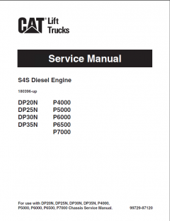 repair manuals Caterpillar GP15N, GP18N, D20N, DP25N, DP30N, DP35N Lift Trucks Service Manuals PDF