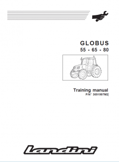 repair manuals Landini Globus 55 65 80 Tractors Training & Workshop Manuals PDF