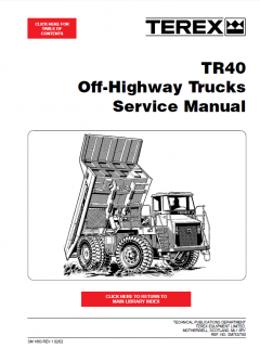 repair manuals Terex TR40 Off-Highway Trucks Service Manual PDF