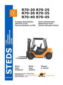repair manuals Still Steds R70-20, R70-25, R70-30 Fork Trucks Workshop Manual PDF