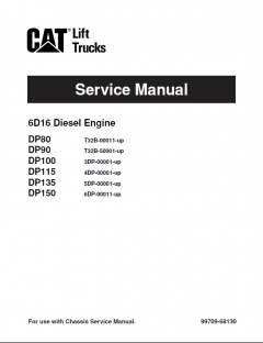 repair manuals Caterpillar DP80 DP90 DP100 DP115 DP135 DP150 Forklifts Service Manual PDF