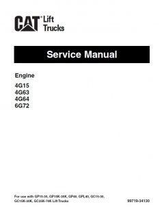 repair manuals Caterpillar 4G15 4G63 4G64 6G72 Engine Forklifts Service Manual PDF