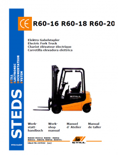 repair manuals Still Steds R60-16 R60-18 R60-20 Electric Forklift Truck Workshop Manual PDF