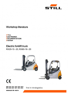 repair manuals Still RX20-15-20, RX60-16-20 Electric Forklifts Workshop Literature PDF