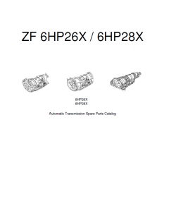 spare parts catalogs ZF 6HP26X / 6HP28X Automatic Transmission Spare Parts Catalog PDF