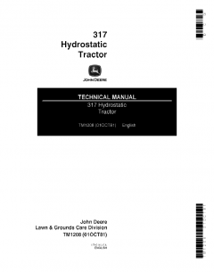 repair manuals John Deere 317 Hydrostatic Tractor Technical Manual TM1208 PDF