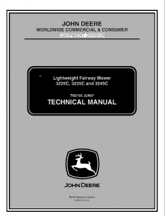 repair manuals John Deere 3225C 3235C 3245C Lightweight Fairway Mower Technical Manual TM2105 PDF