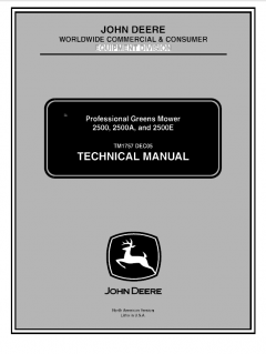 repair manuals John Deere 2500 2500A 2500E Professional Greens Mower Technical Manual TM1757 PDF