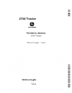 repair manuals John Deere 2750 Tractor Technical Manual TM4405 PDF