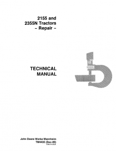 repair manuals John Deere 2155 2355N Tractors Repair Technical Manual TM4435 PDF